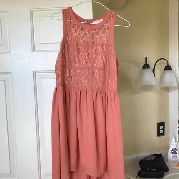 3210ca81fd600 Dresses | Salmon Colored High Low Summer Dress | Poshmark